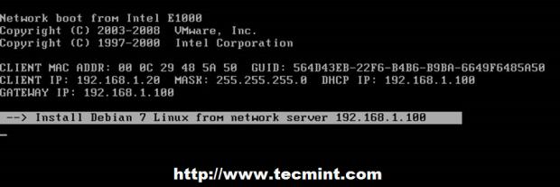 Select Debian Installer Boot