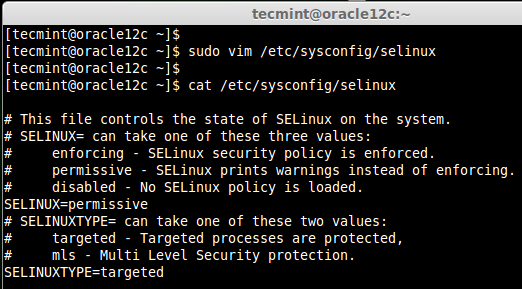 Set SeLinux Mode
