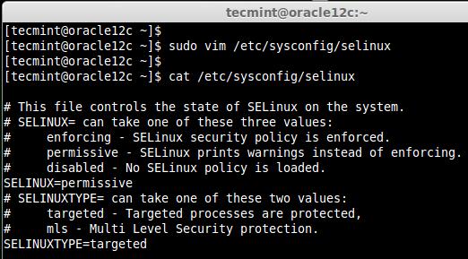 Set SeLinux Mode
