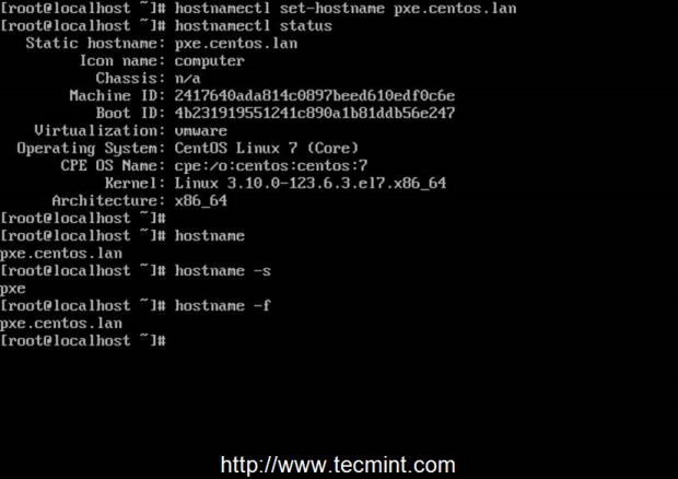 Setup System Hostname in CentOS 7