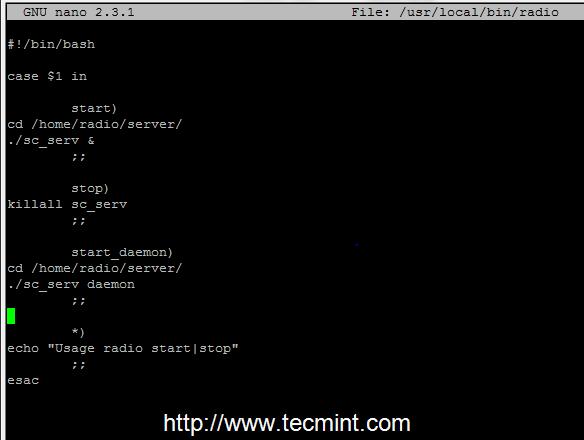 Shoutcast Binary Start Script