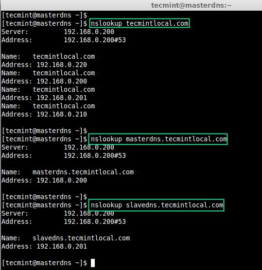 Test DNS Zones
