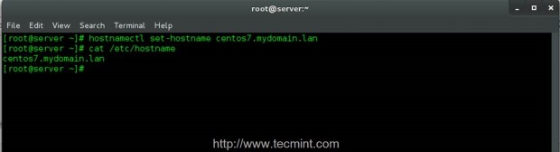 Add System Hostname in CentOS 7