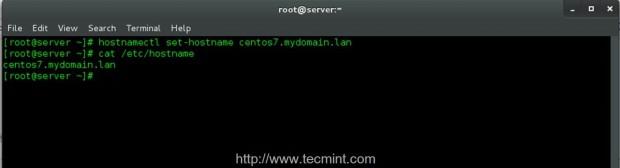 Agregar nombre de host del sistema en CentOS 7