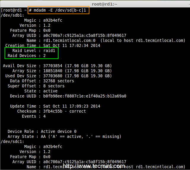 Setting up RAID 1 (Mirroring) using 'Two Disks' in Linux - Part 3