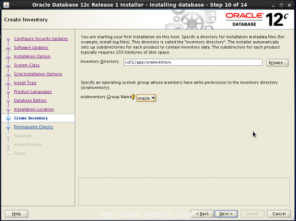 Create Oracle Inventory
