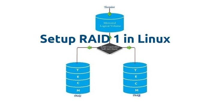 Create Raid 1 in Linux