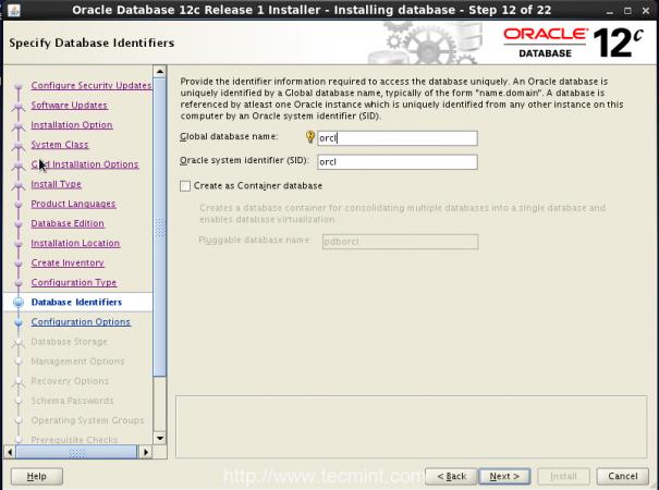 Database Identifiers