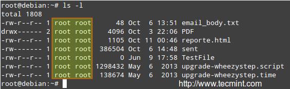 Linux File Listing