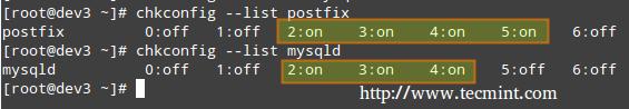 Listing Runlevel Configuration