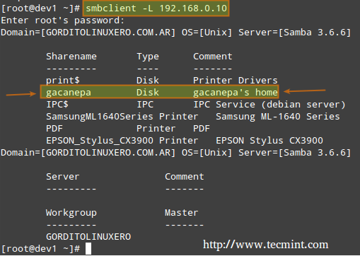 Mount Samba Share in Linux