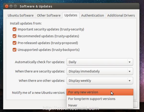 Notify Ubuntu Version