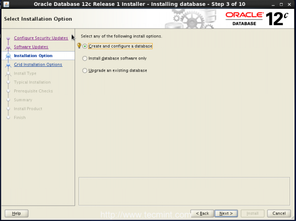 Oracle Installer type
