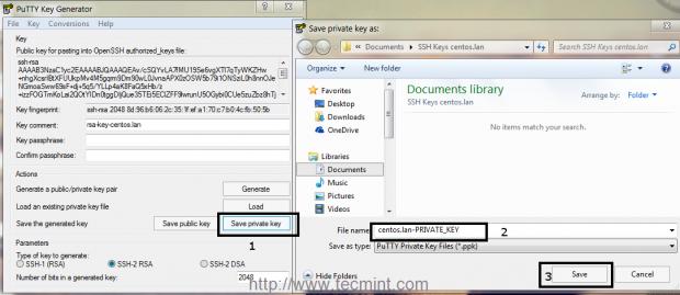 Save SSH Private Key