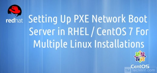 Setting PXE Network Boot in CentOS