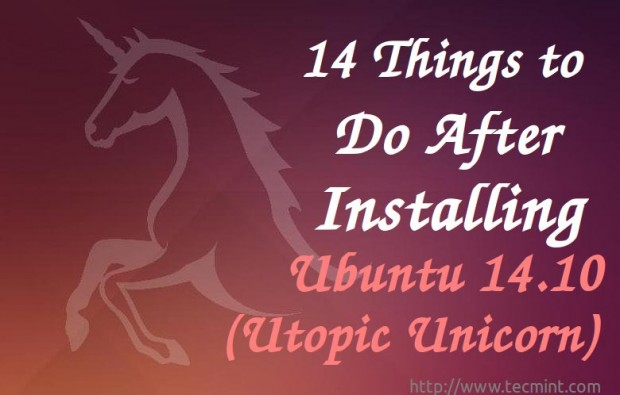 Things Do After Installing Ubuntu 14 10
