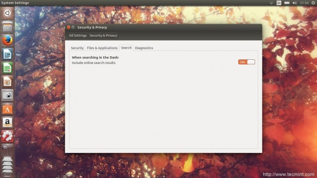 Turn Off Online Search in Ubuntu 14.10