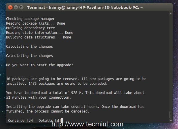 Upgrade Package Summary