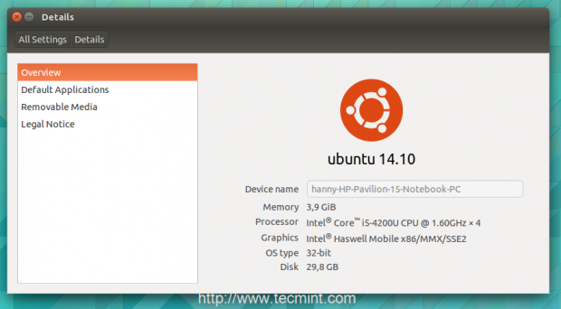 Upgraded to Ubuntu14.10