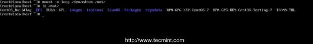 Mount CentOS DVD