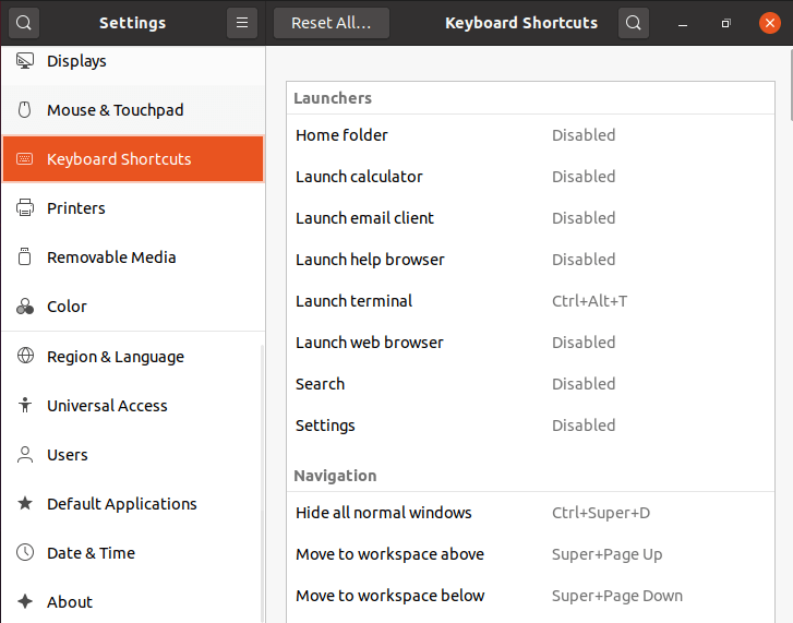 Set Keyboard Shortcuts