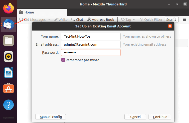 Set Up Mail Client in Ubuntu