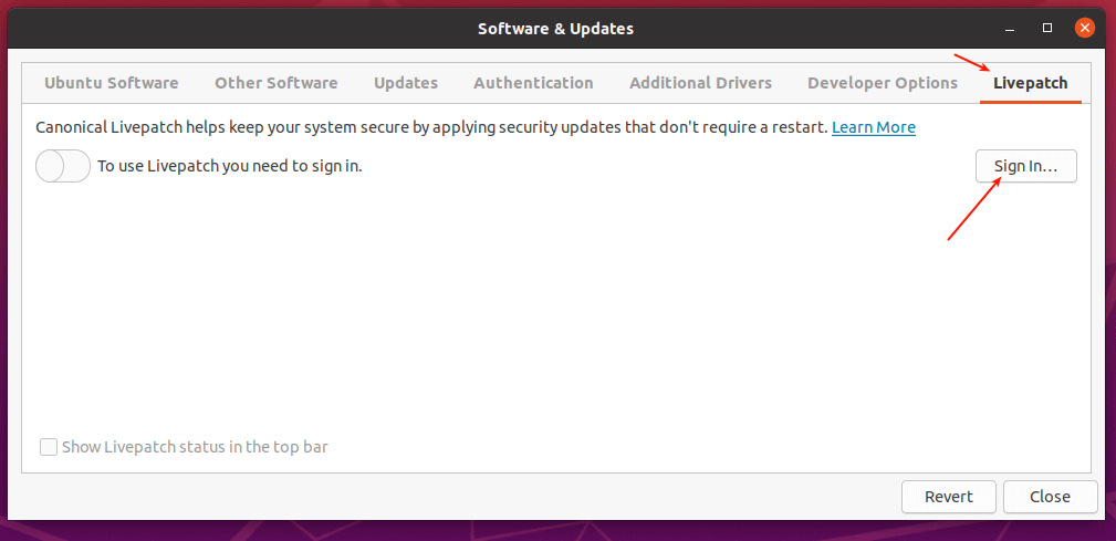 Enable Ubuntu Livepatch