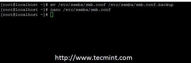 Backup Samba Configuration