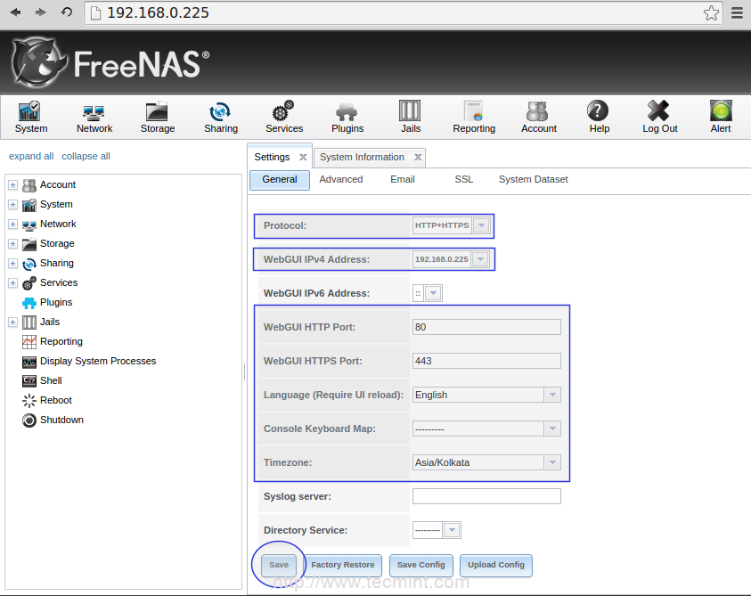 Configuring FreeNAS to Setup ZFS Storage Disks and Creating NFS