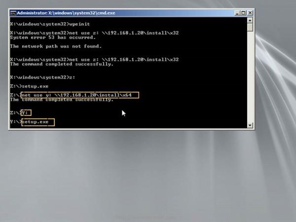 Choose Windows 7 Install Source