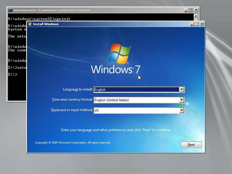 Installing Windows 7 over PXE Network Boot Server on RHEL