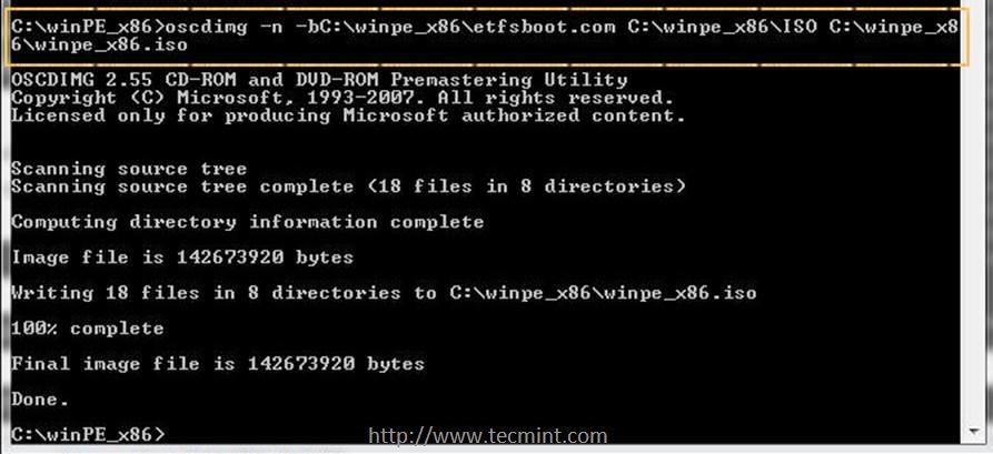installing windows 7 pxe network boot server on rhel