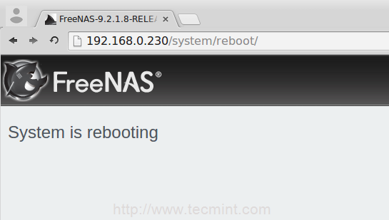 FreeNAS Rebooting