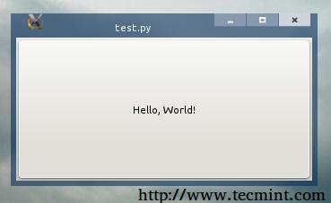 Hello World Window