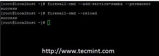 Open Samba in Centos 7 Firewall