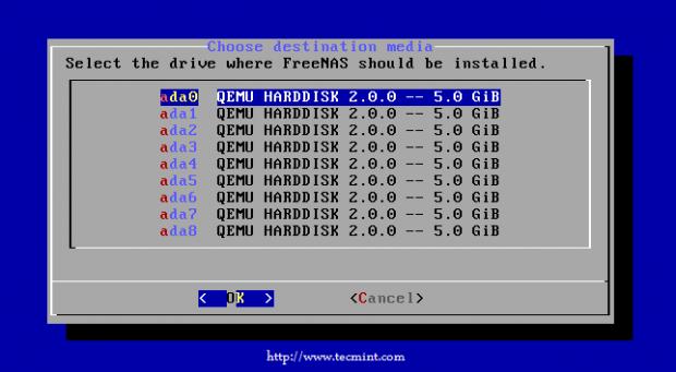 FreeNAS Install Drive