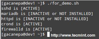 Services Monitoring Script
