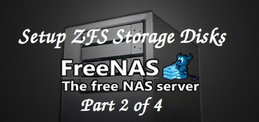 Setup ZFS Storage Disks on FreeNAS