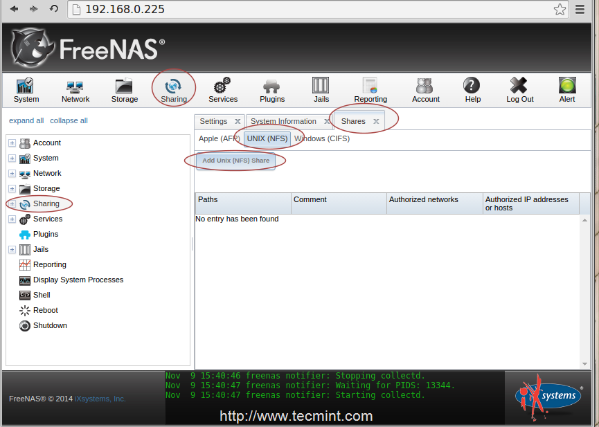 Configuring FreeNAS to Setup ZFS Storage Disks and Creating