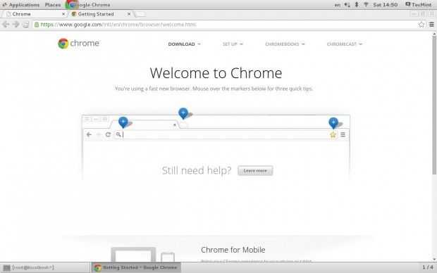 Welcome Google Chrome