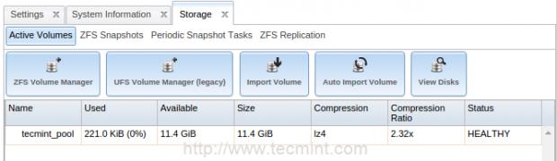 ZFS Storage Disks
