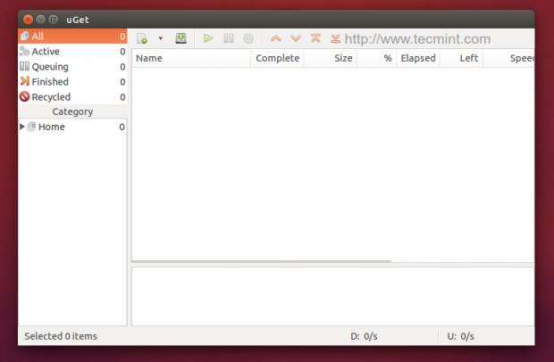 Install uGet in Ubuntu