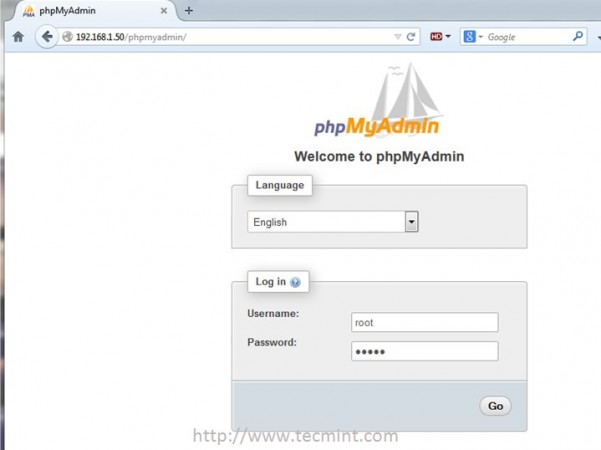 Access PhpMyAdmin