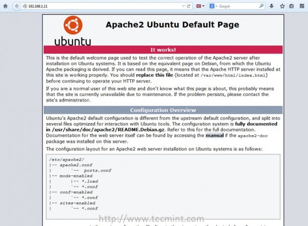 Apache Default Page for Ubuntu