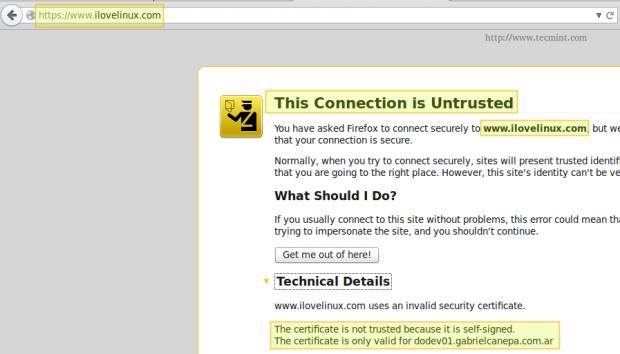 Check Apache SSl Certificate