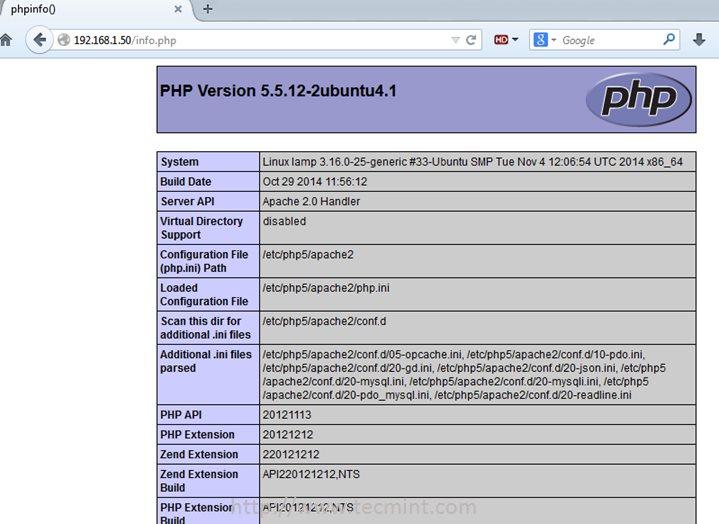 Linux Apache Php Server