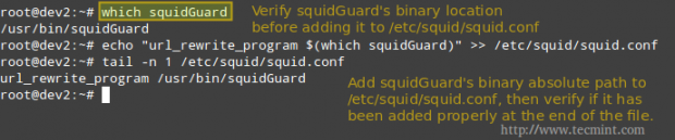 Configure SquidGuard for Squid