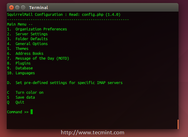 Configure Squirrelmail in Ubuntu