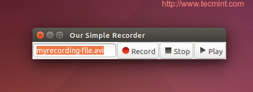 Create Desktop Recorder