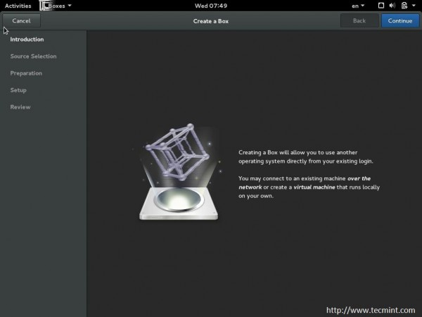 Fedora Boxes to Create VM's